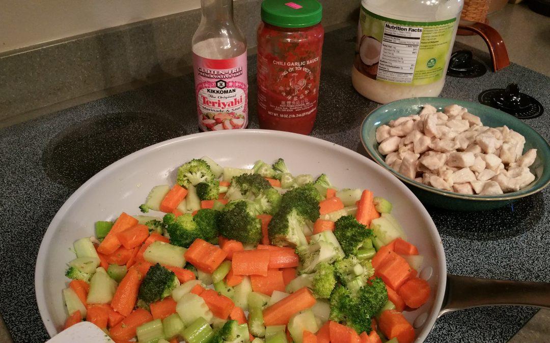 Chicken Stir Fry in the Pan