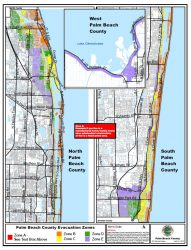Evacuation Map of Palm Beach County
